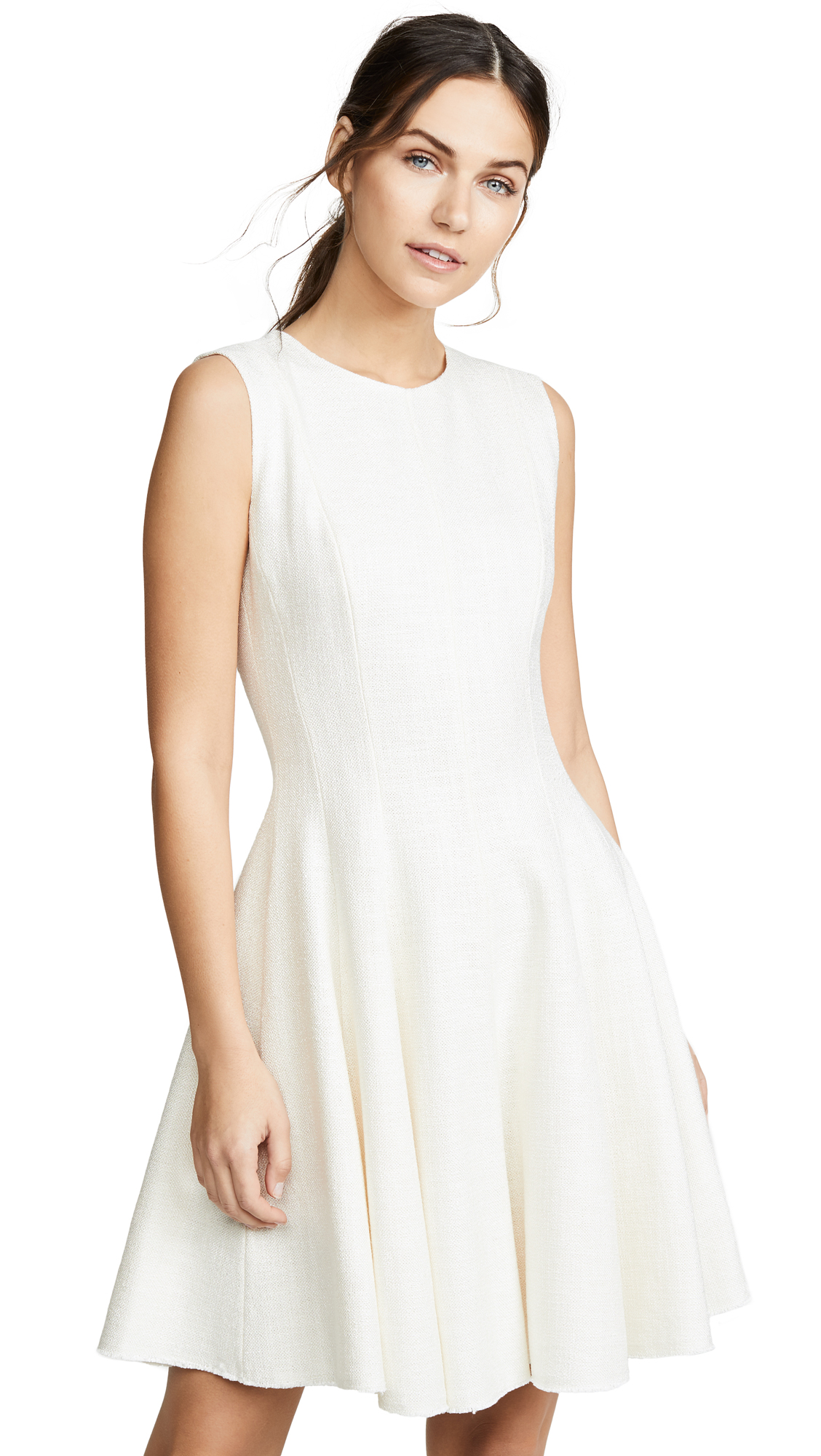 Theory Peplum Dress - Rice