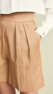 Theory Pleated Shorts