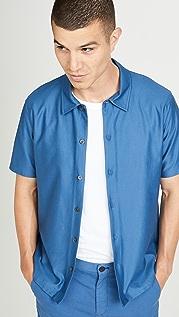 Theory Isak Jersey Short Sleeve Shirt