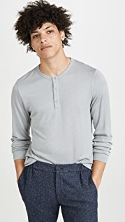 Theory Long Sleeve Snap Henley