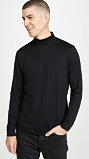 Theory Cotton Cashmere Funnel Turtleneck