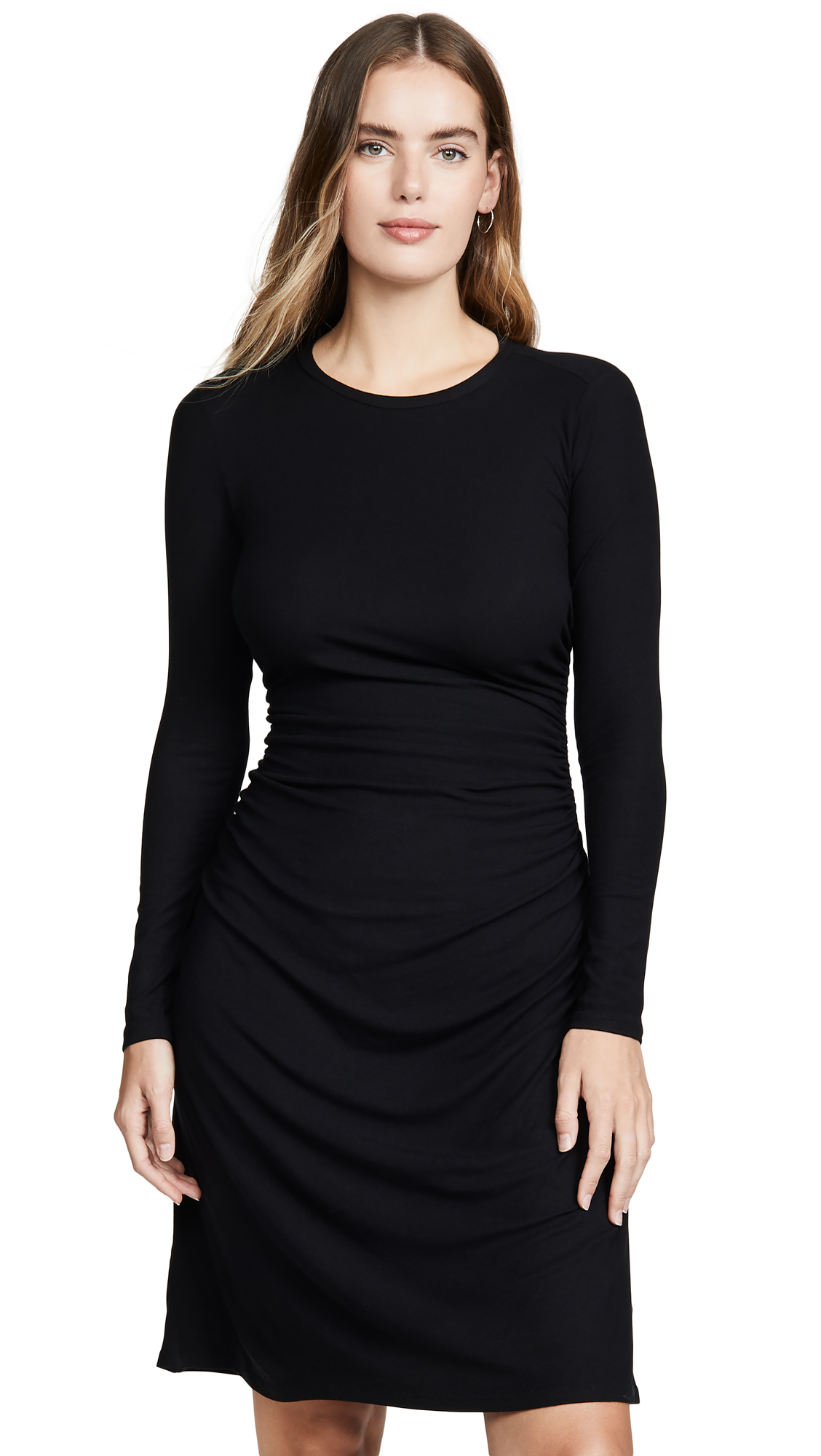 Buy Theory online - photo of Theory Long Sleeve Gathered Waist Dress