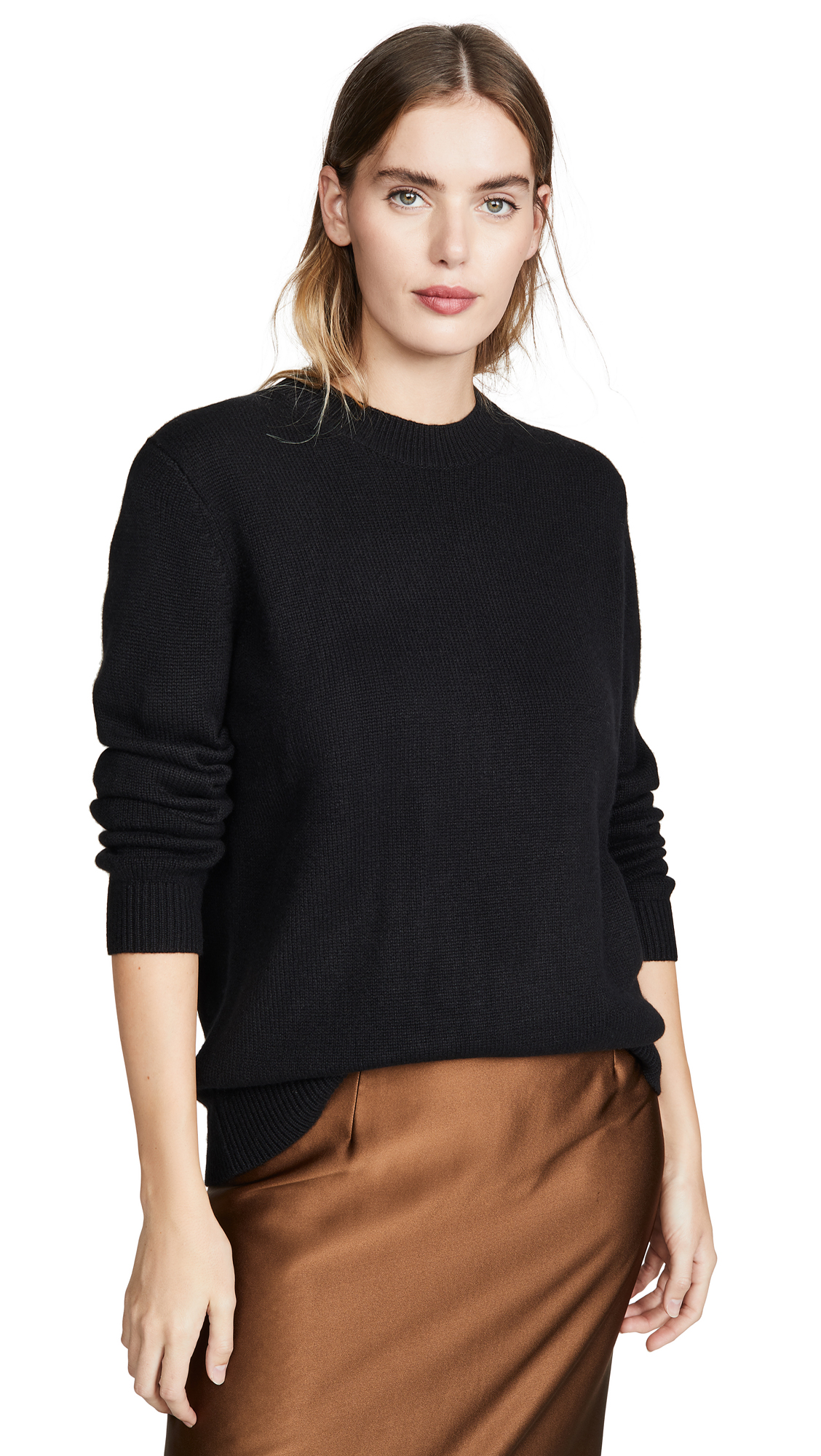 Buy Theory online - photo of Theory Solid Crew Cashmere Pullover