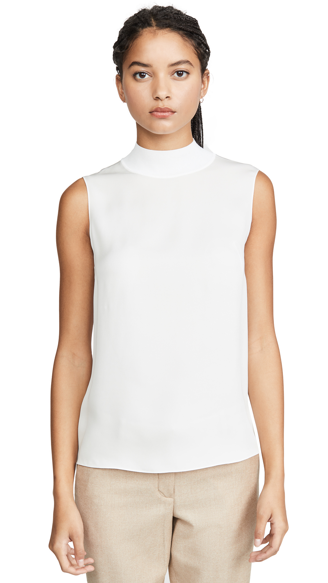 Buy Theory online - photo of Theory Rib Neck Silk Shell