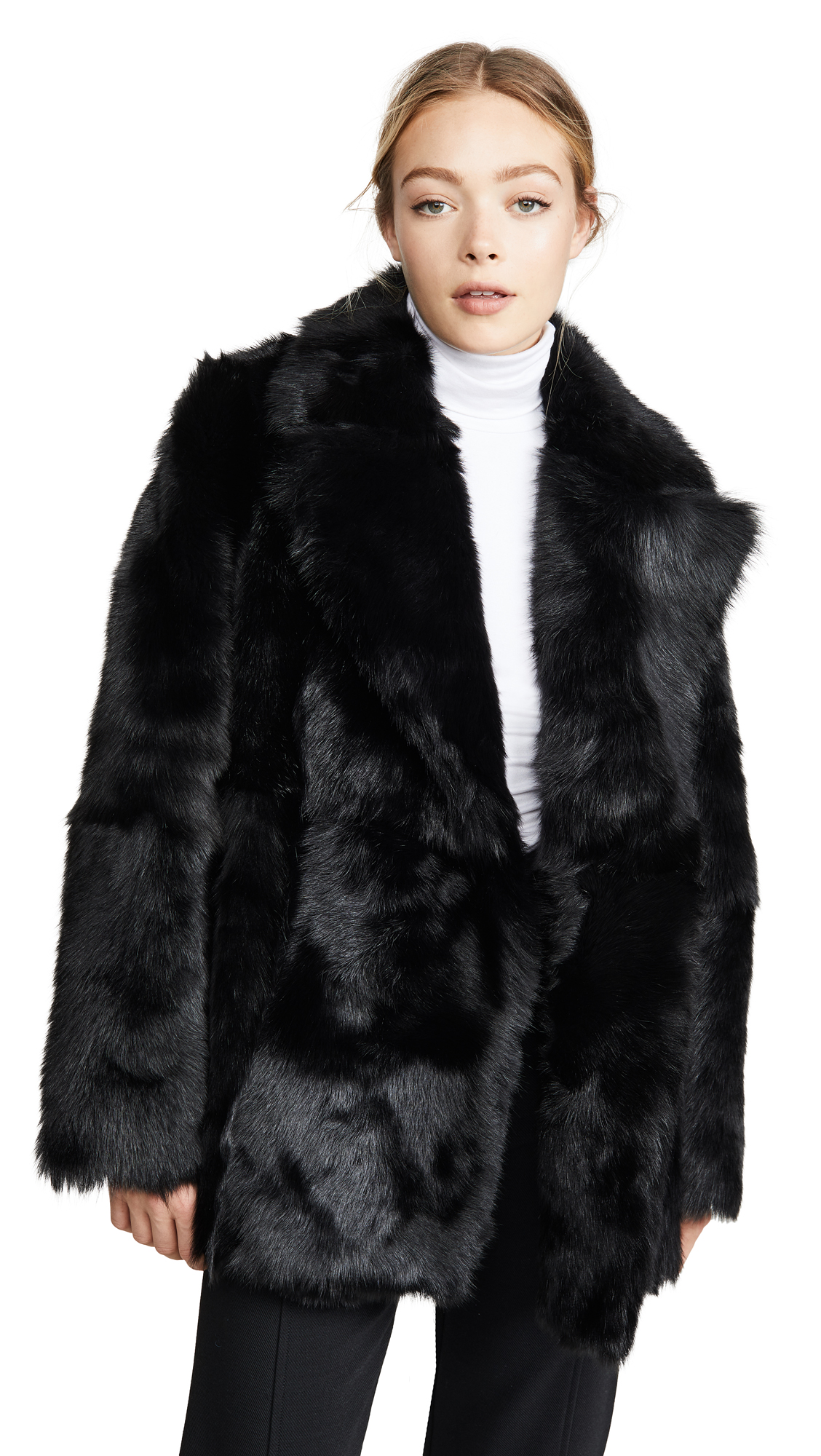Buy Theory Overlay Fur Coat online beautiful Theory Clothing, Jackets
