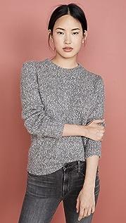Theory Пестрый пуловер с округлым вырезом