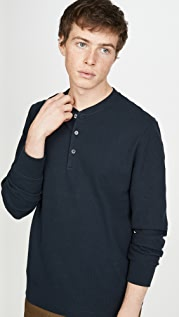 Theory Ridge Stretch Cotton Henley