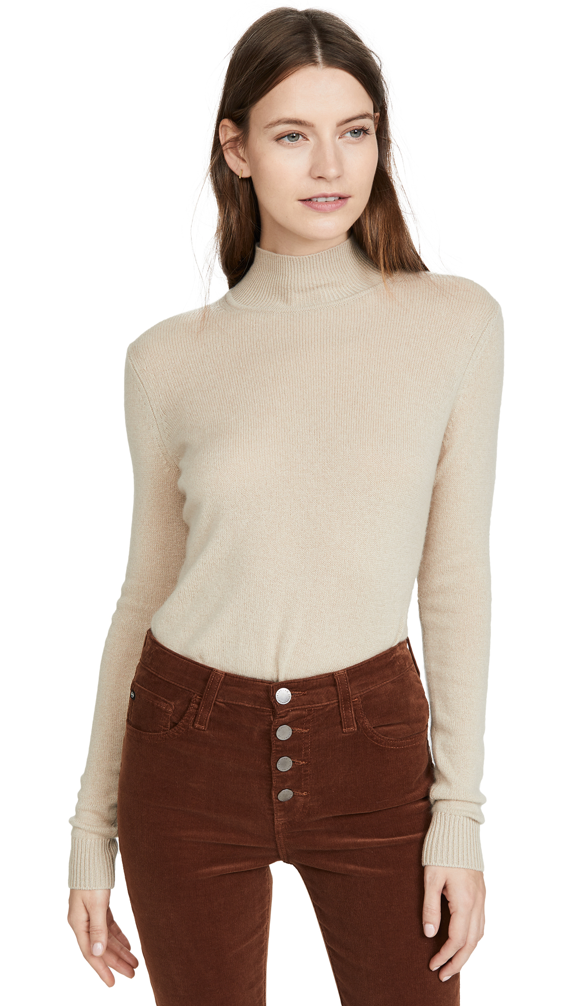 Buy Theory online - photo of Theory Basic Cashmere Mock Neck Top