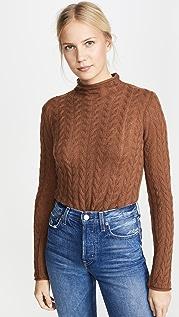 Theory Кашемировый свитер с отделкой в виде косичек