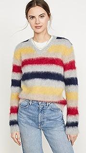 Theory Stripe Alpaca Sweater