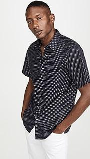 Theory Irving Witan Print Shirt