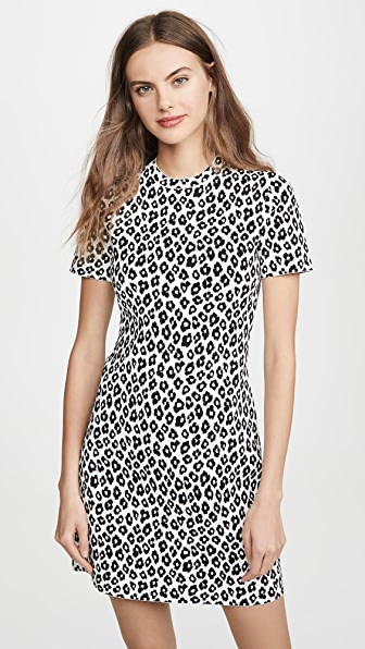 Theory LEOPARD TEE DRESS