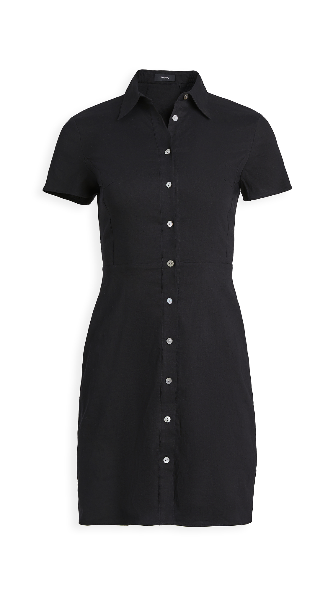 Photo of Theory Short Sleeve Button Down Dress - shop Theory Clothing, Dresses online