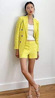 Theory Linen Mini Shorts