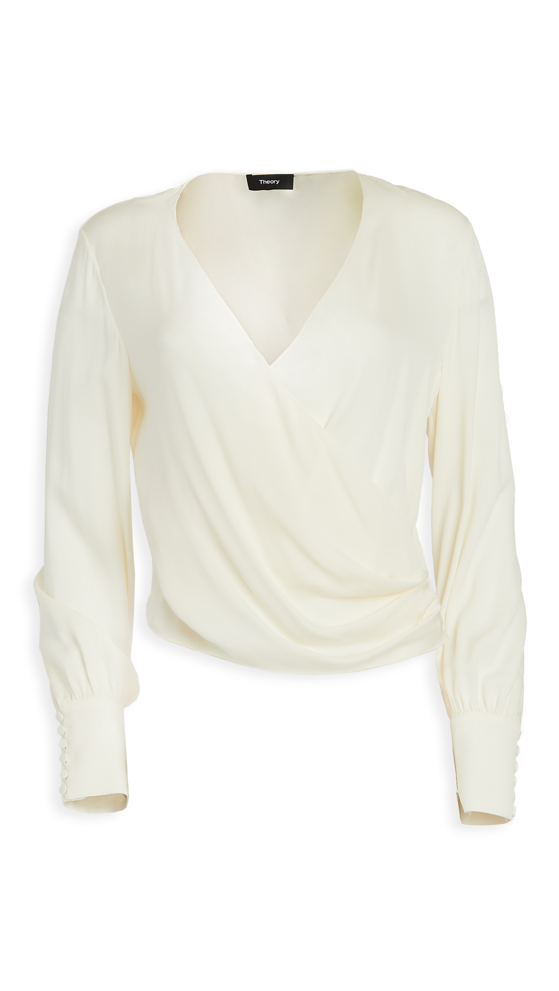 Theory Long Sleeve Wrap Top - 50% Off Sale
