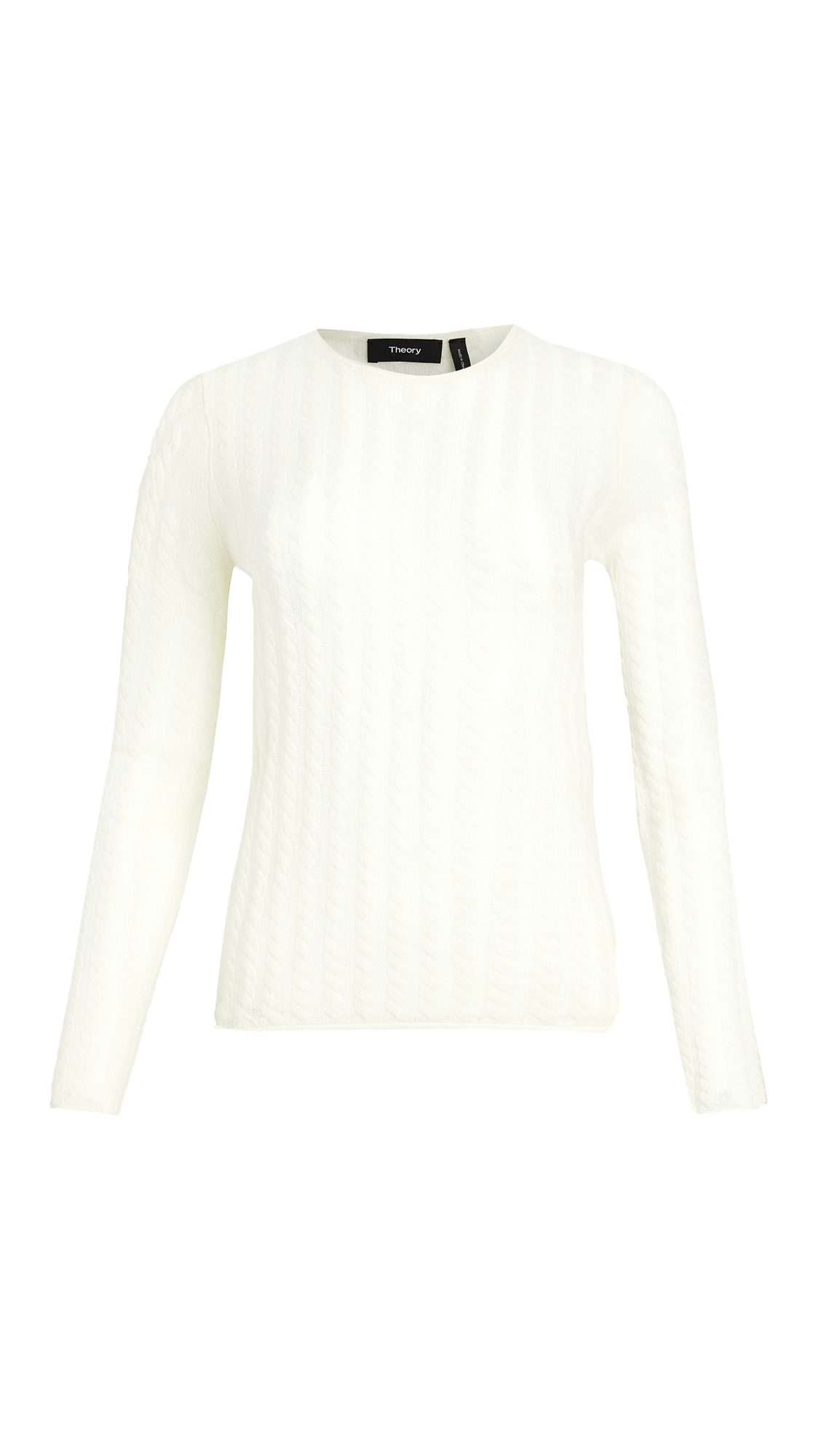 Theory Cashmere Tiny Cable Pullover