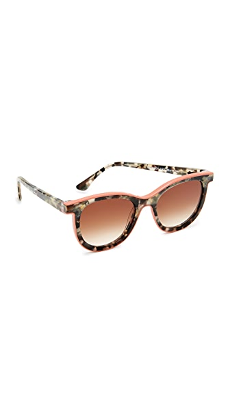 Thierry Lasry Vacancy Sunglasses - Grey Tortoise Pink/Brown