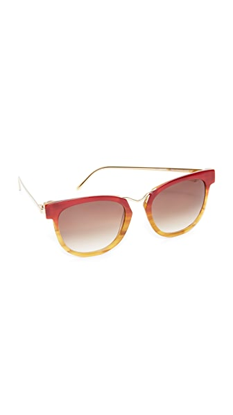 Thierry Lasry Choky Sunglasses In Red Tan/Grey