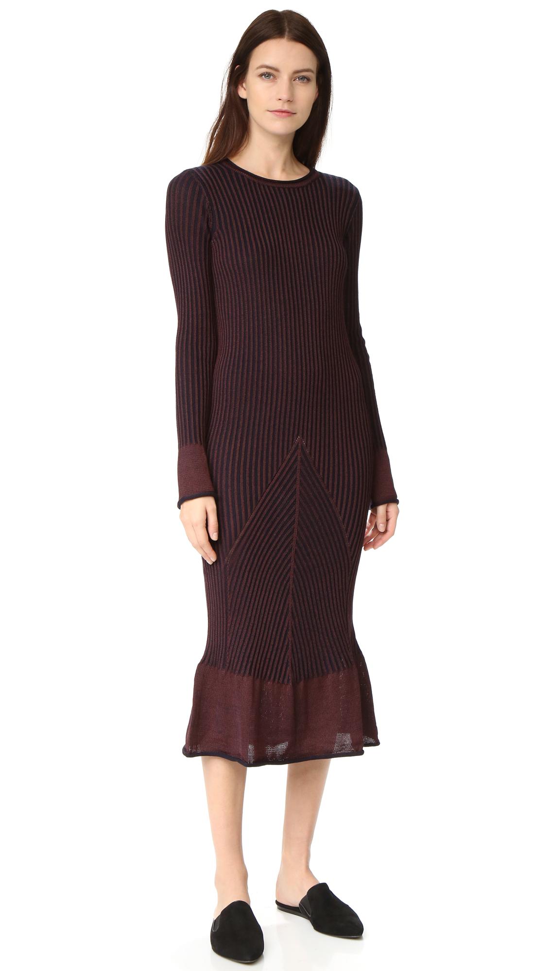 hilfiger collection female hilfiger collection striped long sleeve dress navy blazer