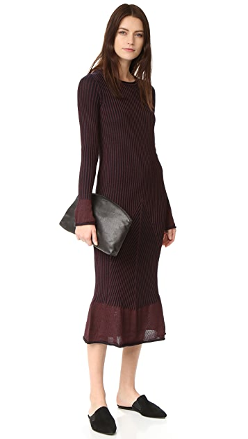 Hilfiger Collection Striped Long Sleeve Dress