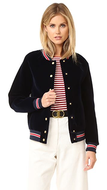 Hilfiger Collection Scuba Varsity Bomber Jacket