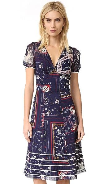 Hilfiger Collection Bandana Long Tea Dress - Medieval Blue/Multi