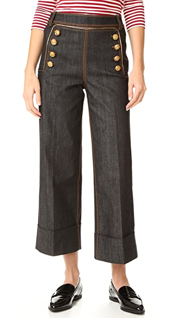 Hilfiger Collection Marine Cropped Pants