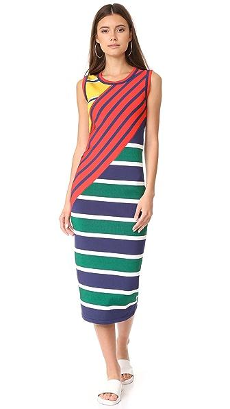 Hilfiger Collection Colorblock Stripe Dress
