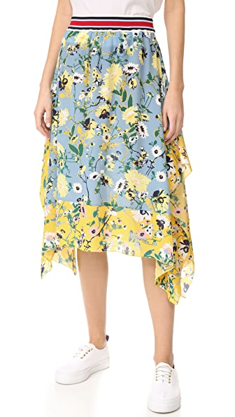 Hilfiger Collection Patchwork Floral Midi Skirt