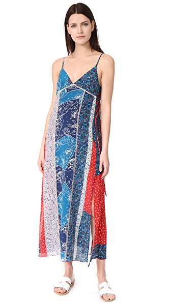 Hilfiger Collection Patchwork Maxi Dress In Peacoat/Multi