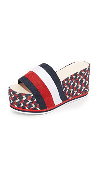 Hilfiger Collection Corporate Wedge Espadrilles - Corporate/Multi COPM
