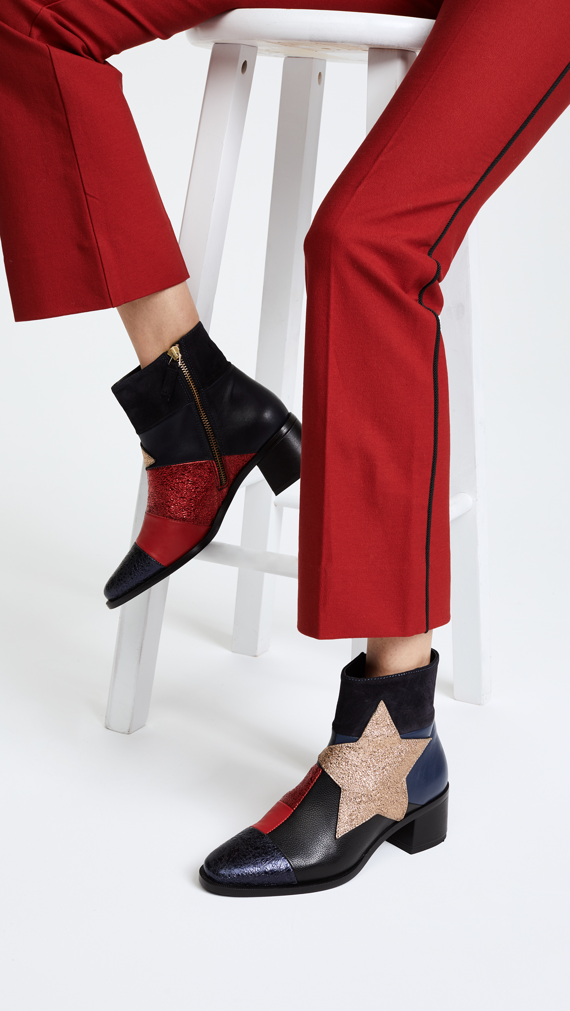 Tommy Hilfiger Patchwork star ankle boots