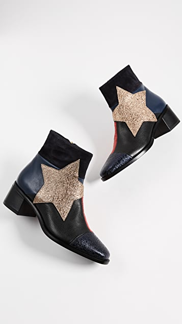 Hilfiger Collection Patchwork Star Ankle Booties