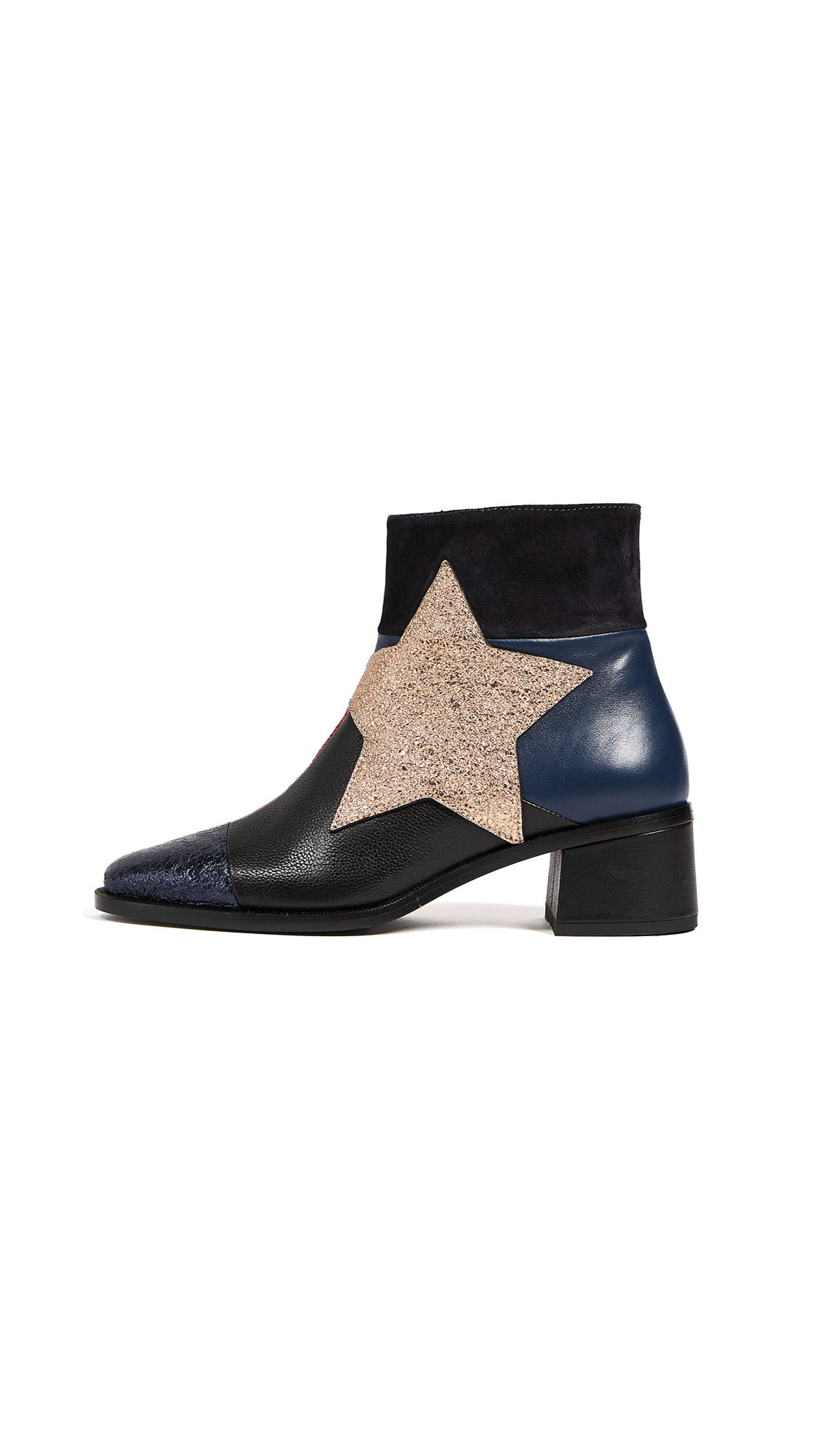 Hilfiger Collection Patchwork Star Ankle Booties - Peacoat/Multi