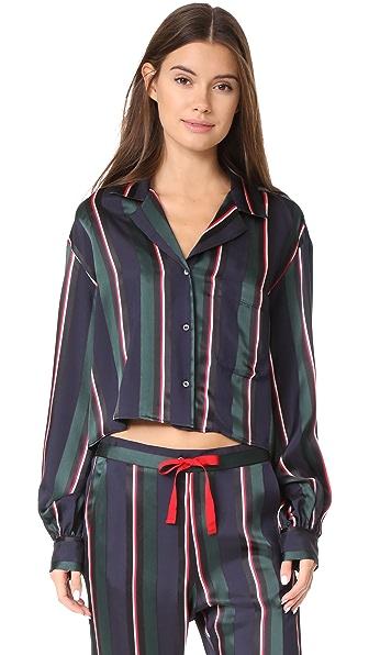 Hilfiger Collection Cropped Pyjama Shirt