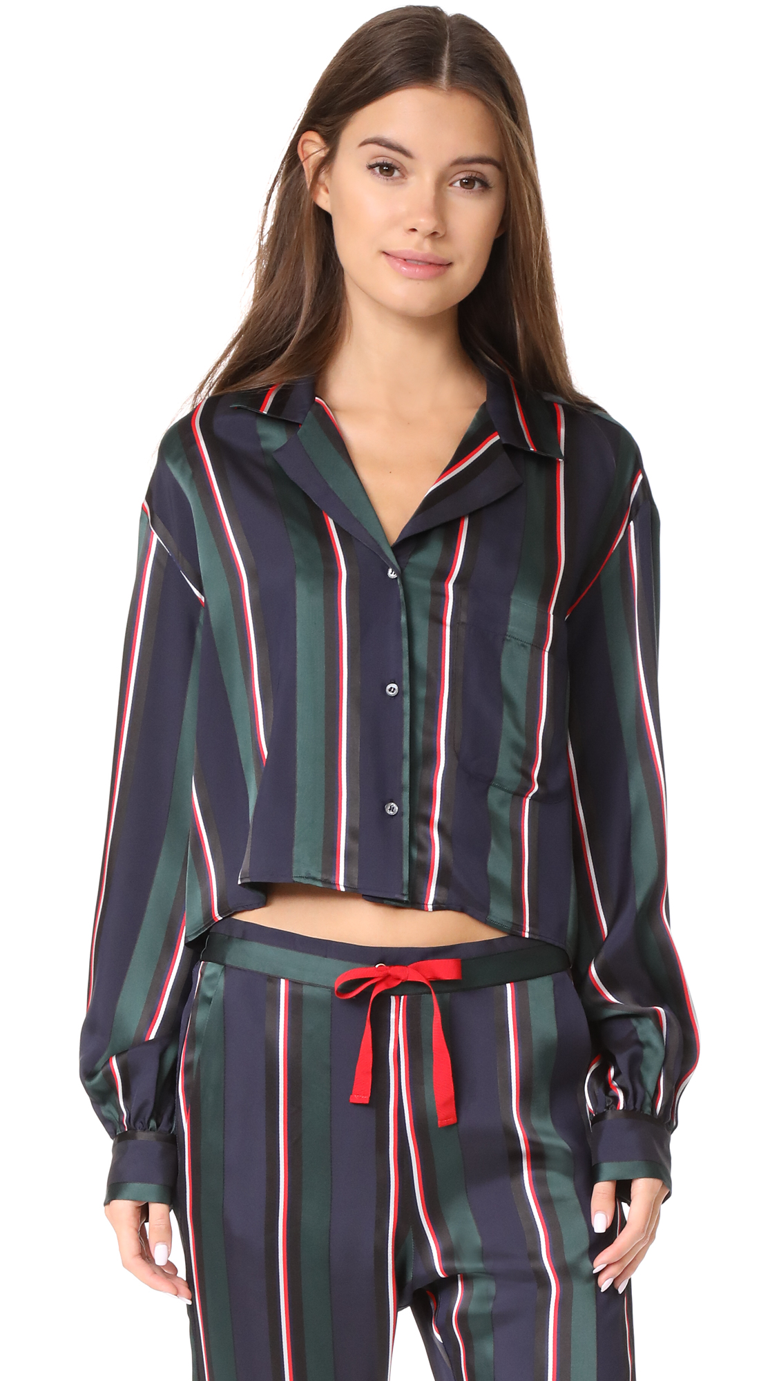 Hilfiger Collection Cropped Pyjama Shirt - Peacoat/Multi