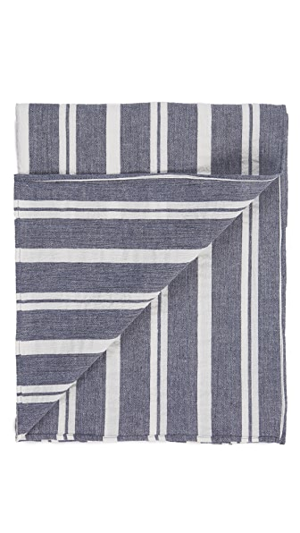 The Hill-Side Linen Blend Crepe Stripe Scarf