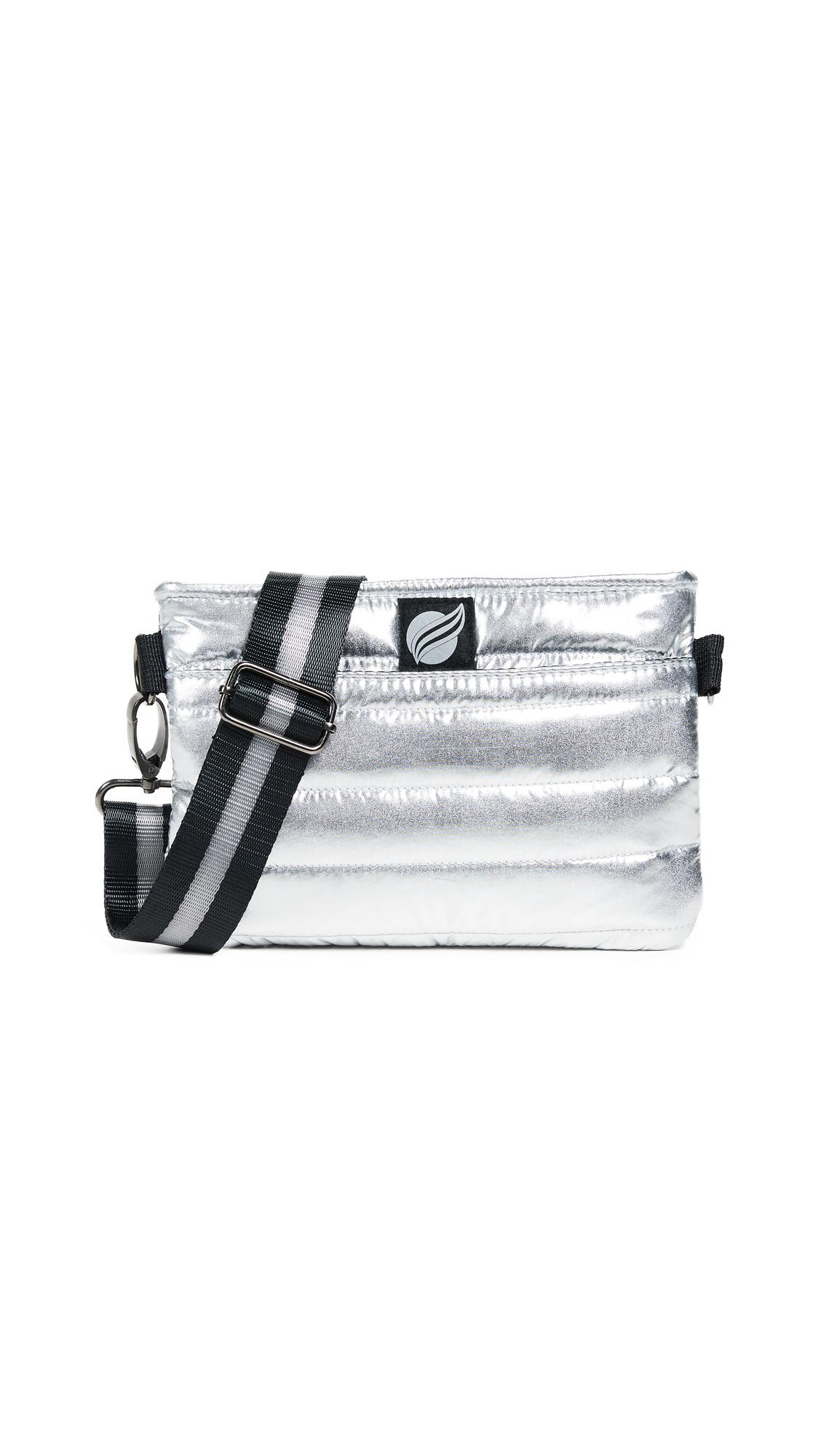 THINK ROYLN Convertible Belt Cross Body Bag in Silver