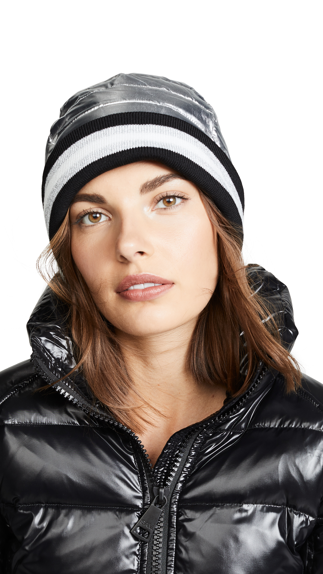 THINK ROYLN Downtown Crown With Rib Beanie Hat in Queens Silver