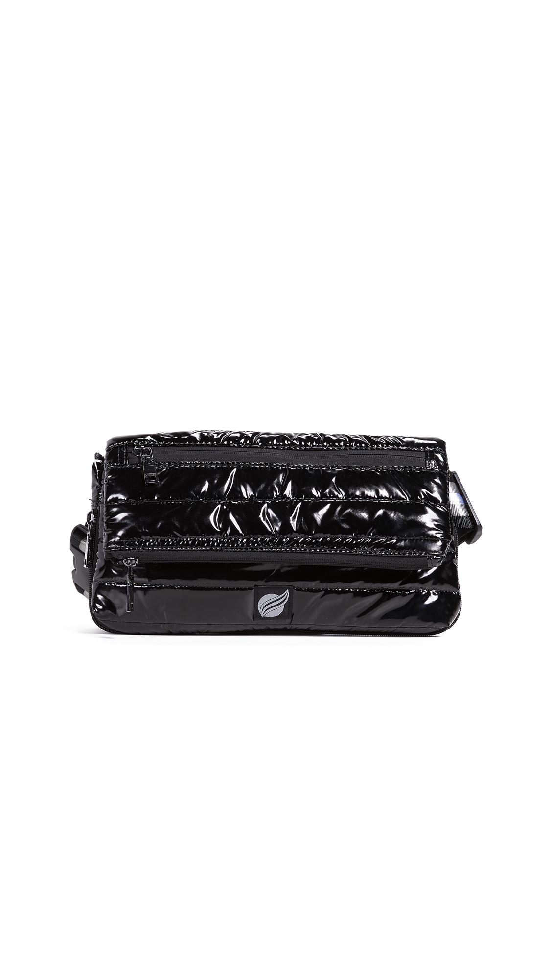 Convertible Belt Cross Body Bag, Black Patent