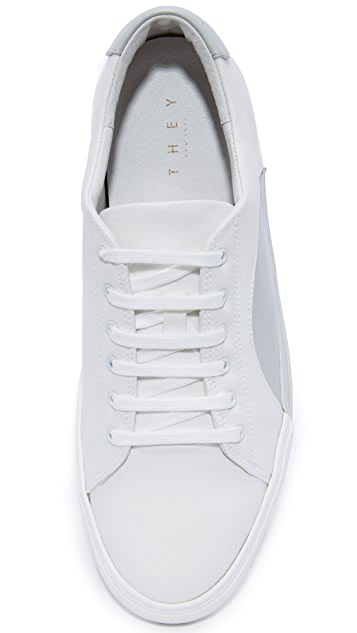 THEY NEW YORK Canvas Circle Low Sneakers