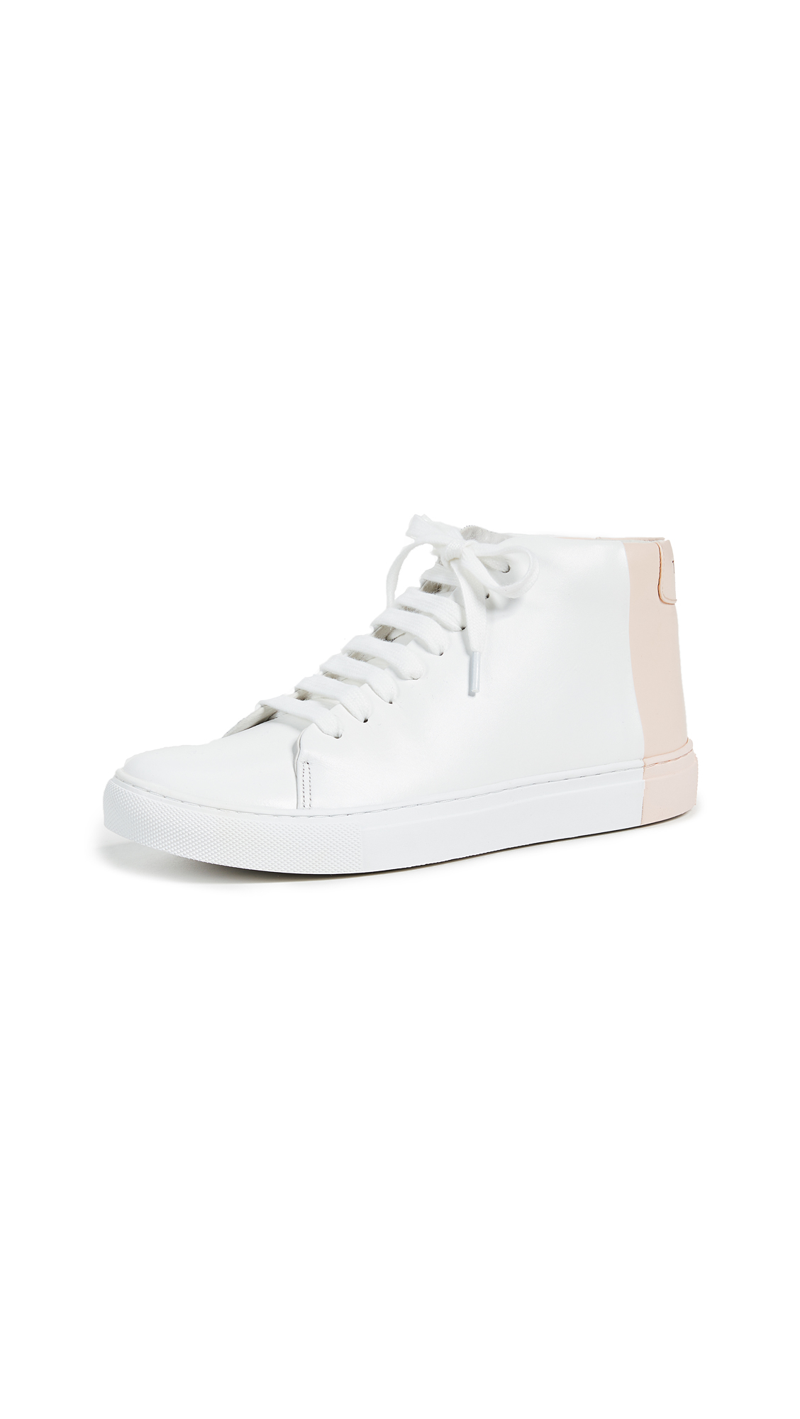 THEY NEW YORK Two Tone Mid Sneakers - White/Blush