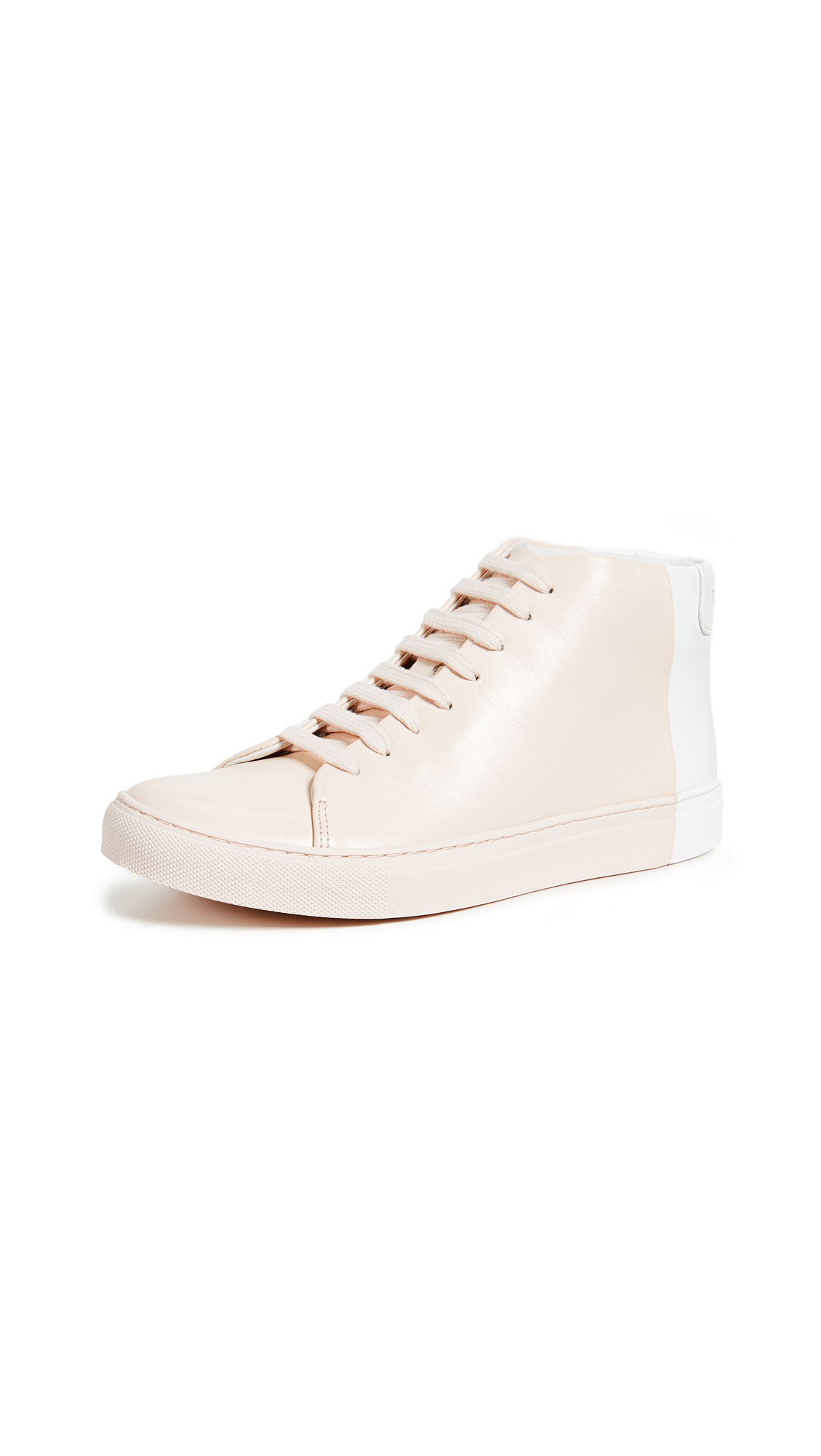 THEY NEW YORK Two Tone Mid Sneakers - Blush/White