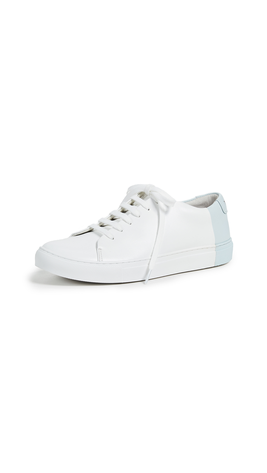 THEY NEW YORK Two Tone Low Sneakers - White/Sky Blue