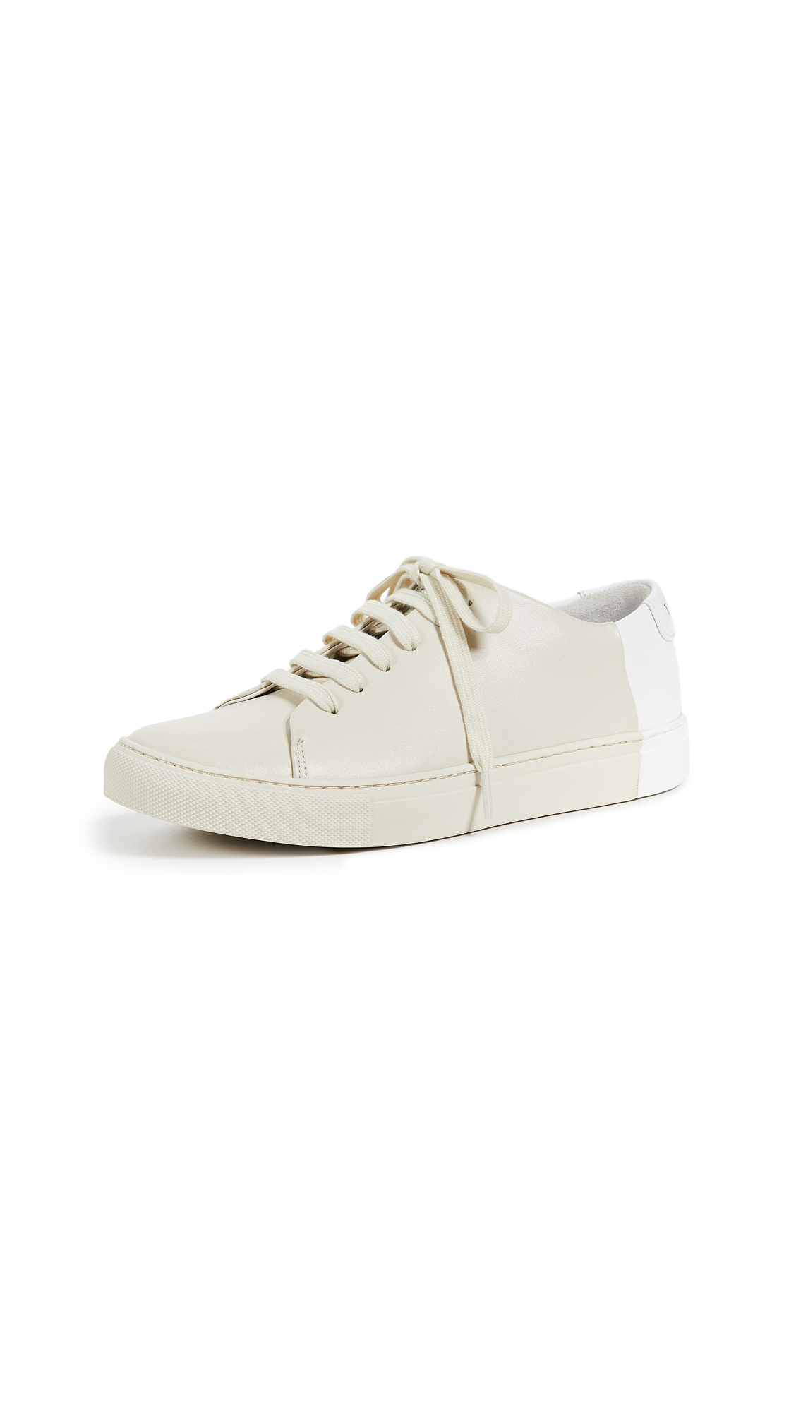THEY NEW YORK Two Tone Low Sneakers - Beige/White