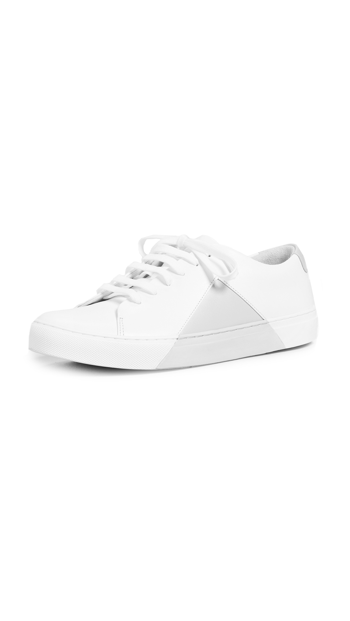 THEY NEW YORK Triangle Low Sneakers - White/Grey