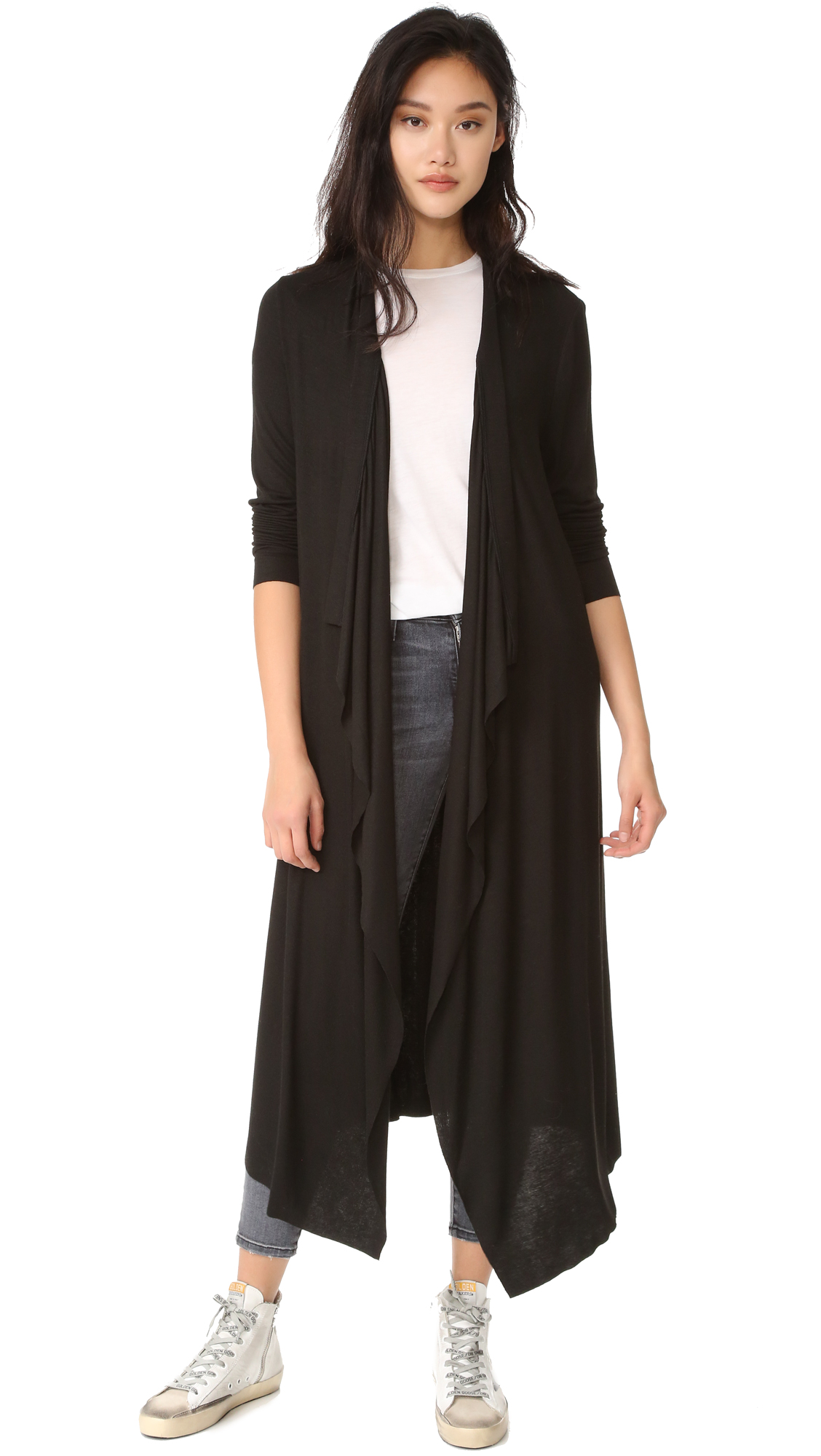 the hours female the hours maxi cardigan black