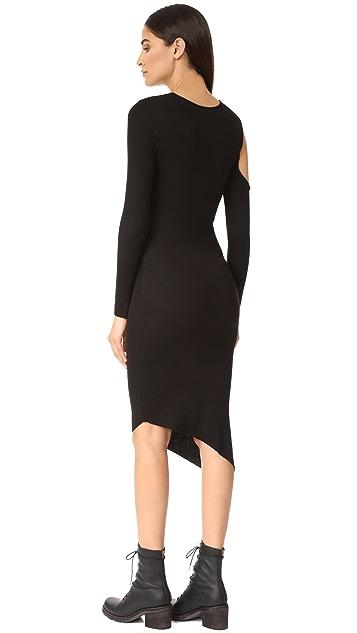 The Range Cold Shoulder Slit Dress