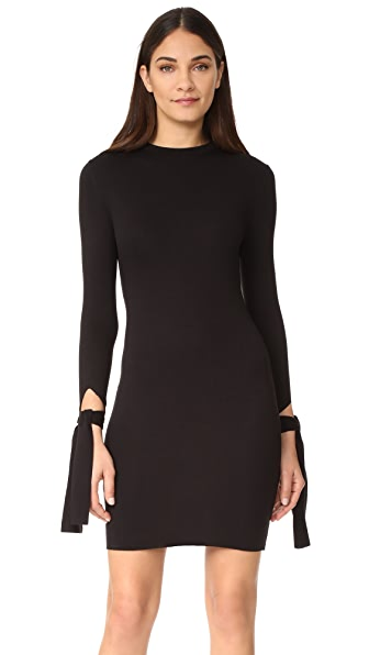 The Hours Tied Sleeve Dress In Black