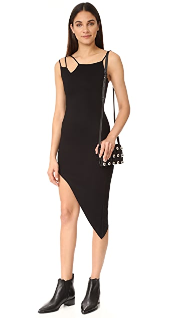 The Range Asymmetrical Strap Dress